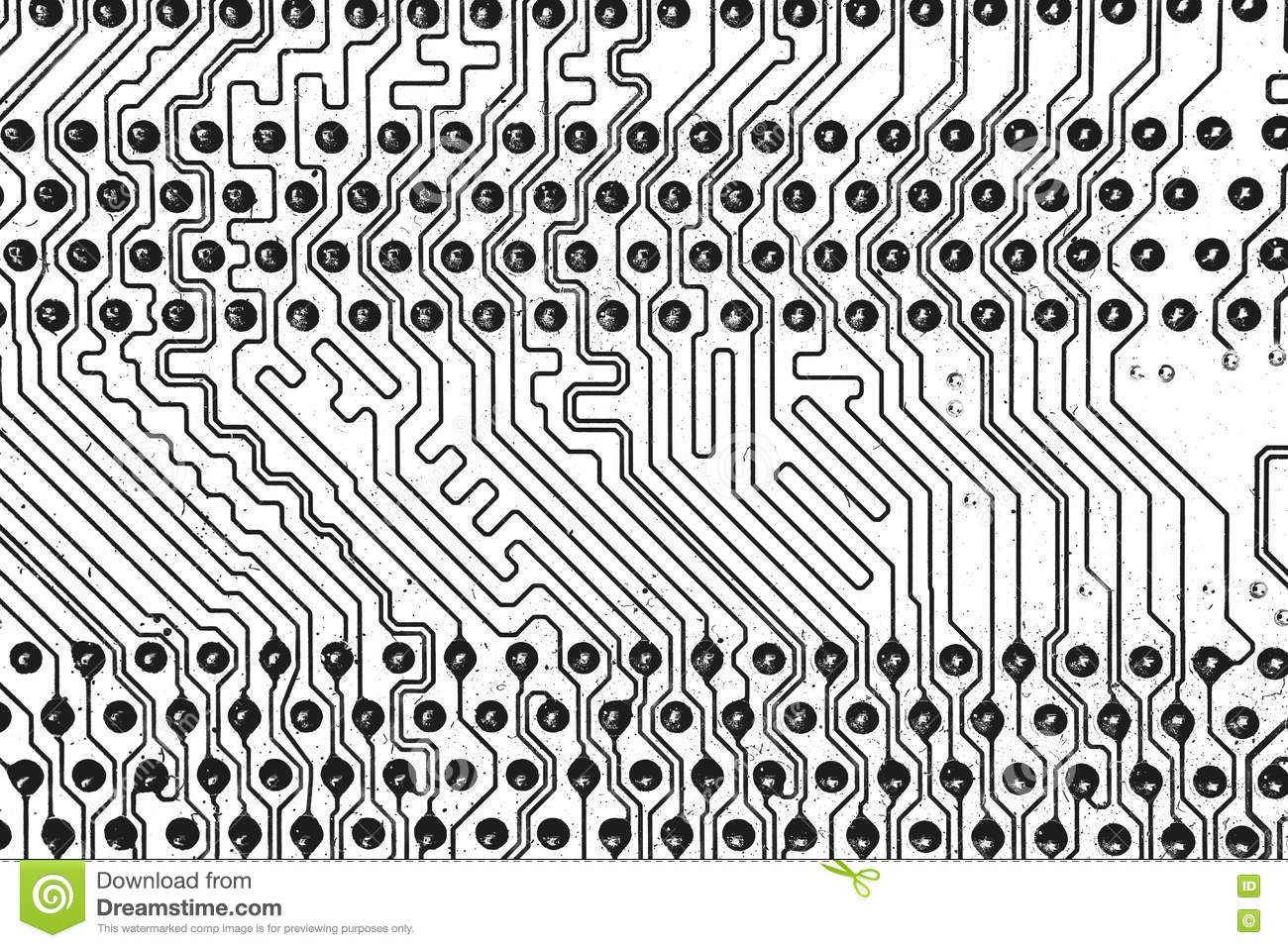 electric circuit  black u0026white for background stock photo