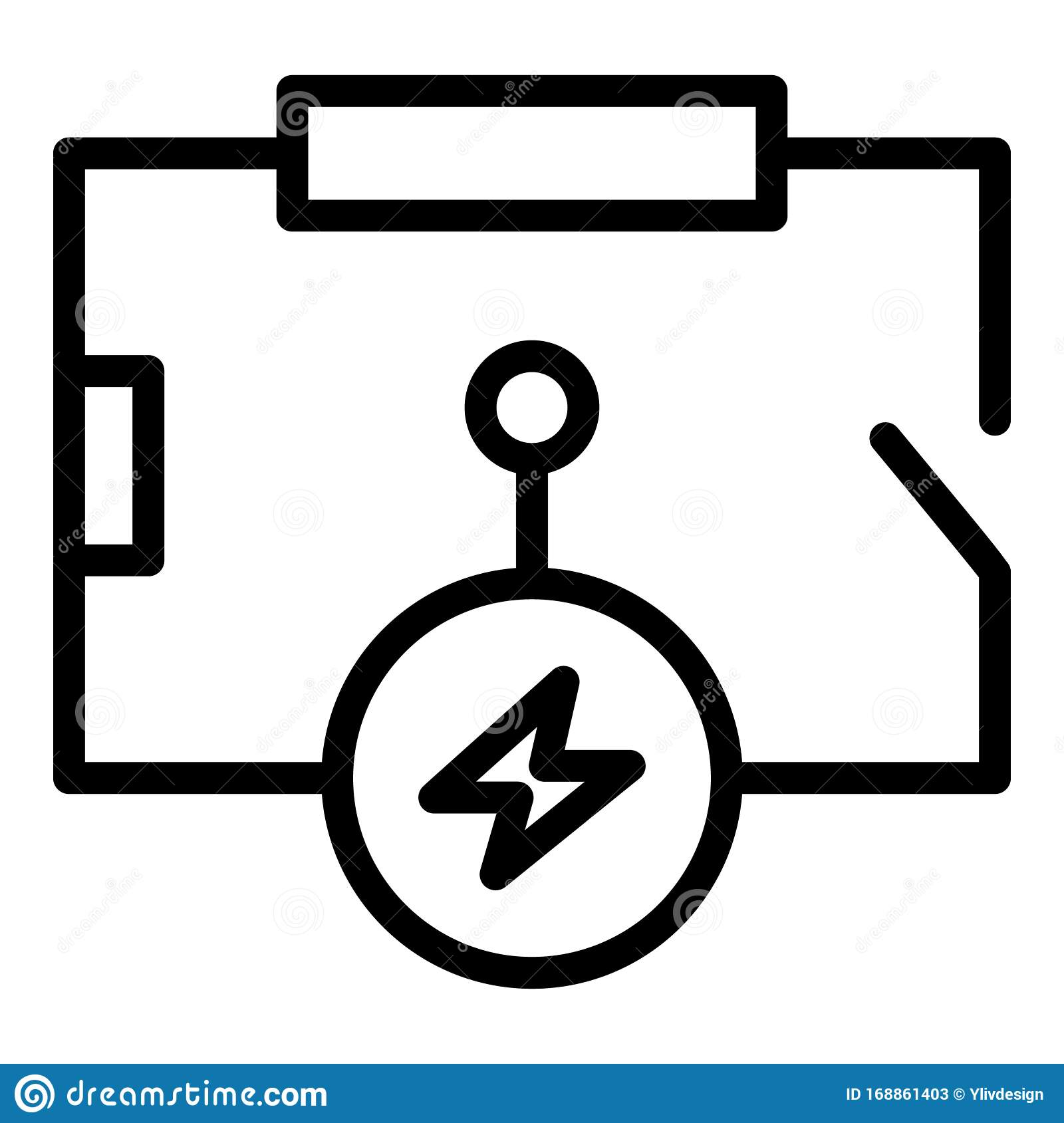 Electric Circuit Scheme Icon, Outline Style Stock Vector ...