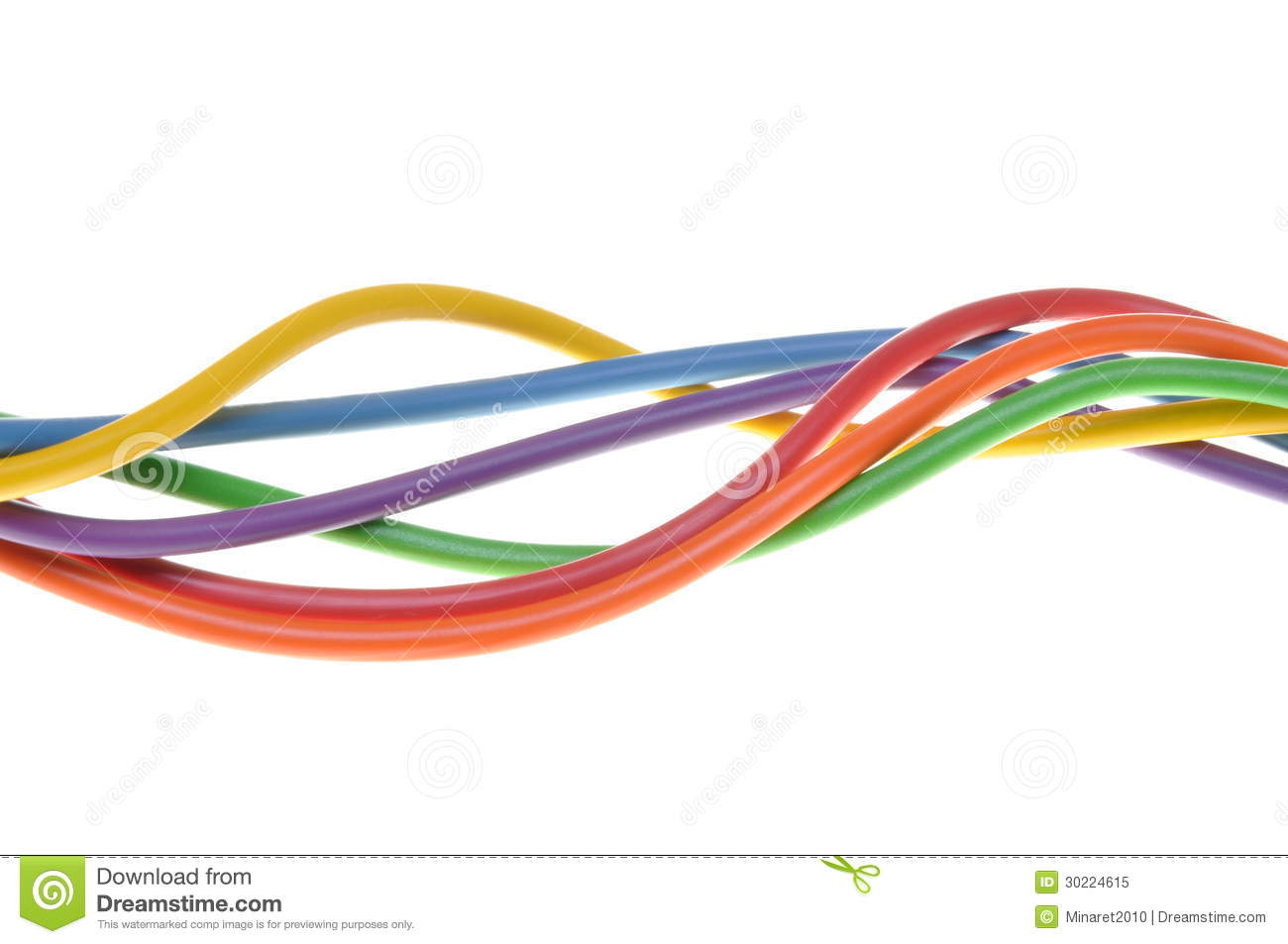 The Electric Colored Wires Used In Electrical And Computer Network ...