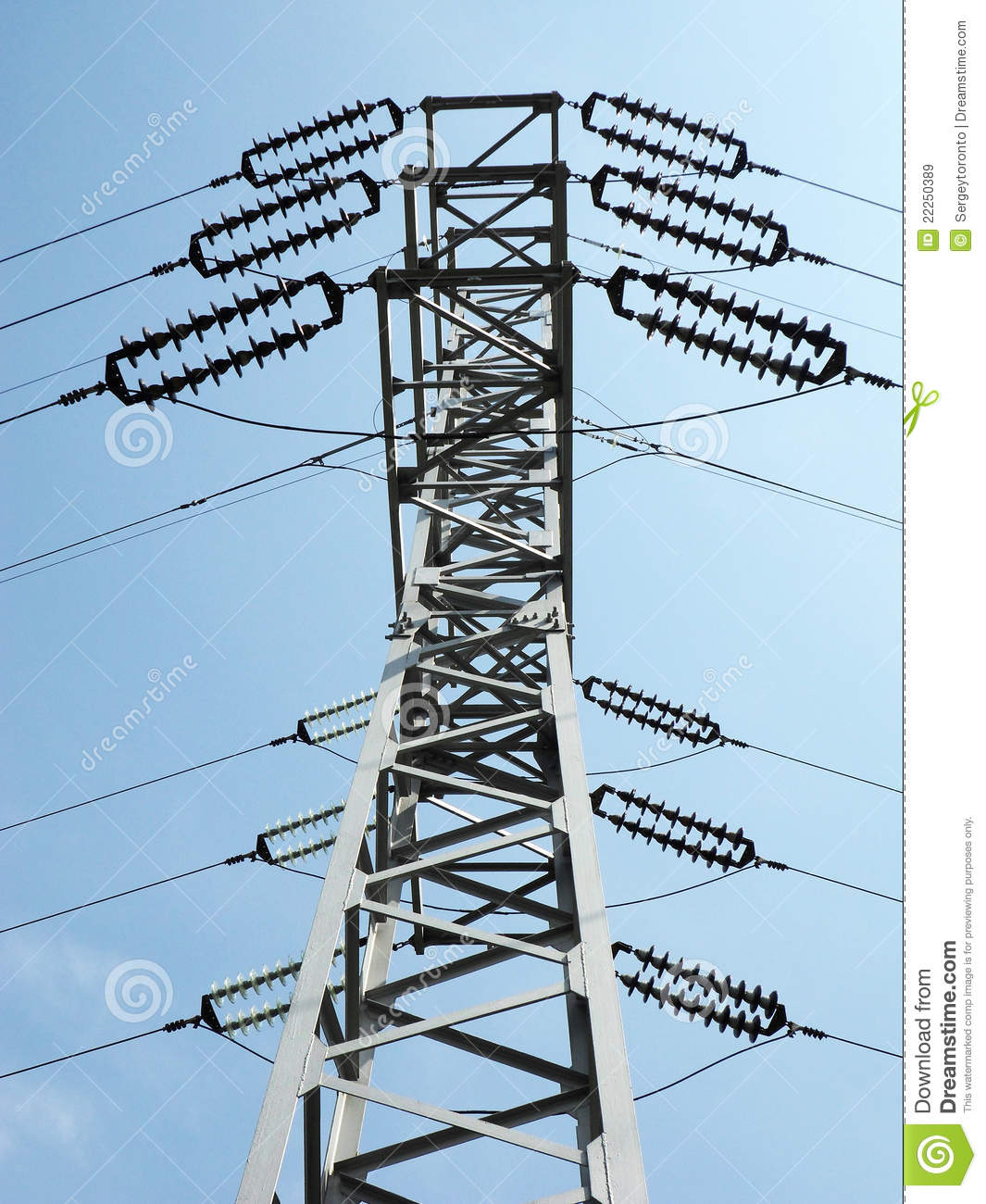 Electric column stock image. Image of industry ...