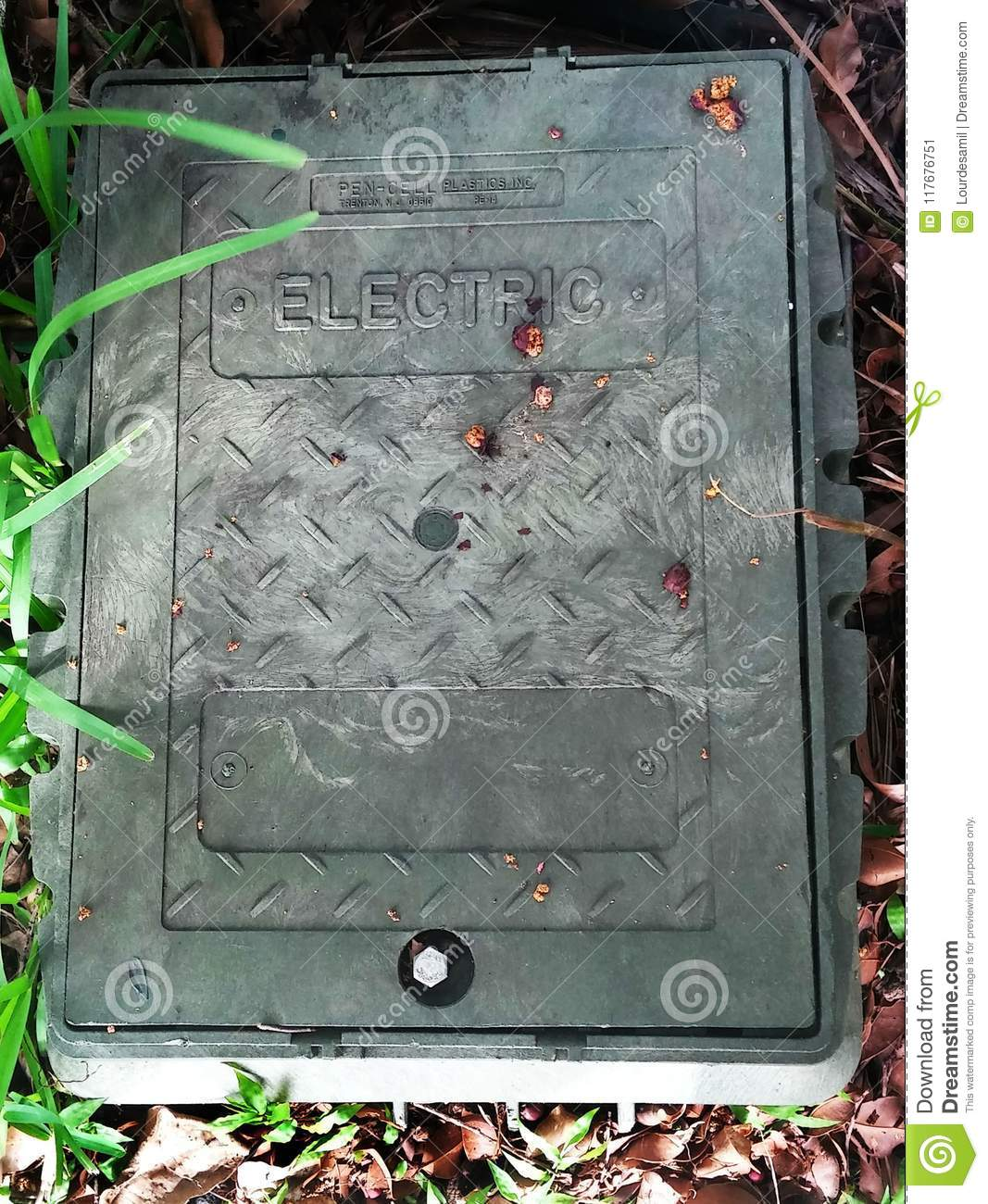 Electric Control Box In The Ground Editorial Photo - Image of ...