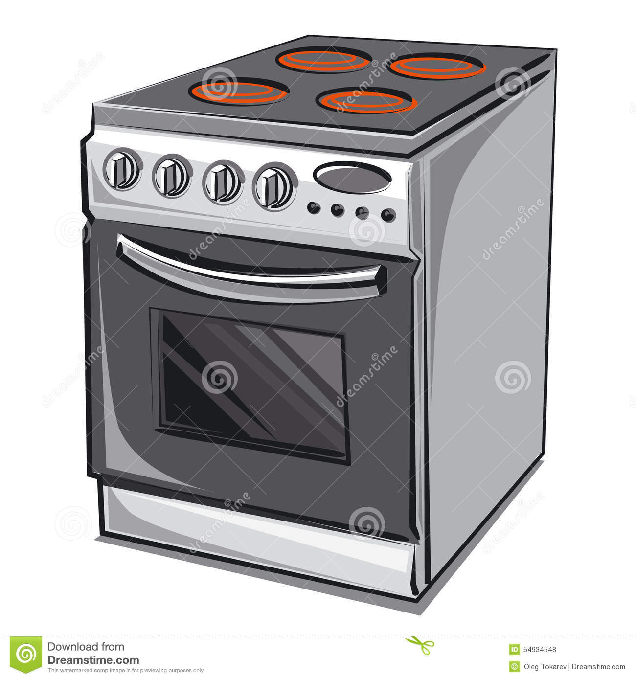 Cartoon Electric Cooker ~ Electric cooker stock illustration of object