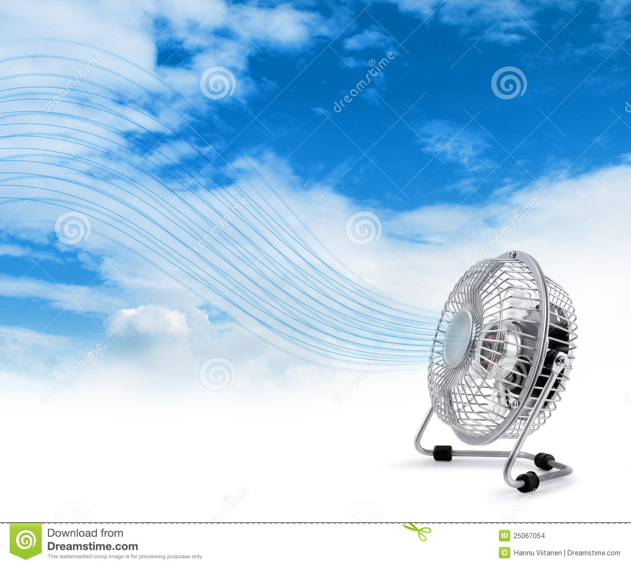 Electric Cooler Fan Blowing Fresh Air Stock Photo Image