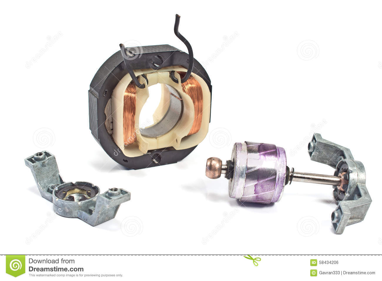 Electric copper coil motor