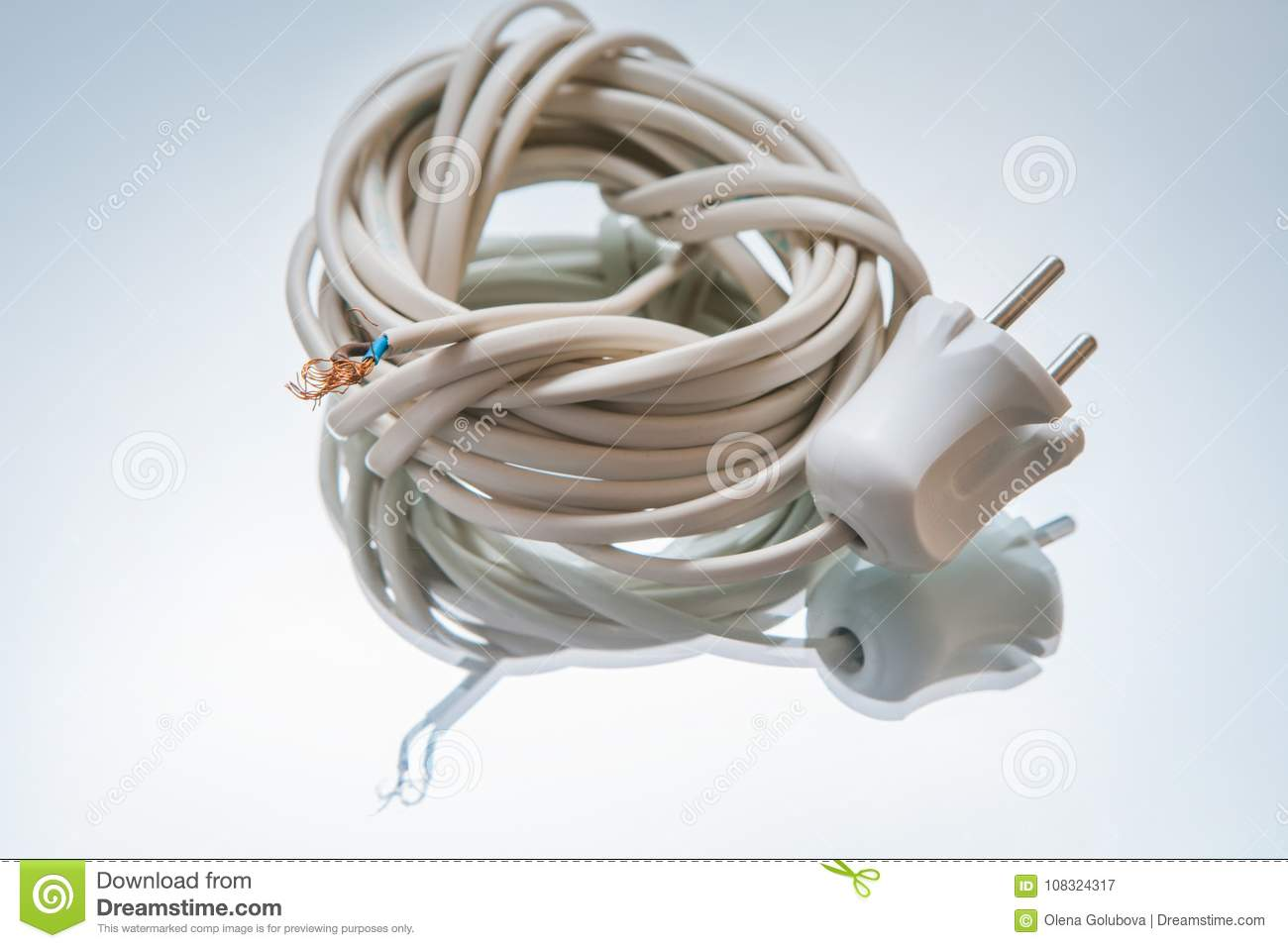 Electric cord with plug wire connect network