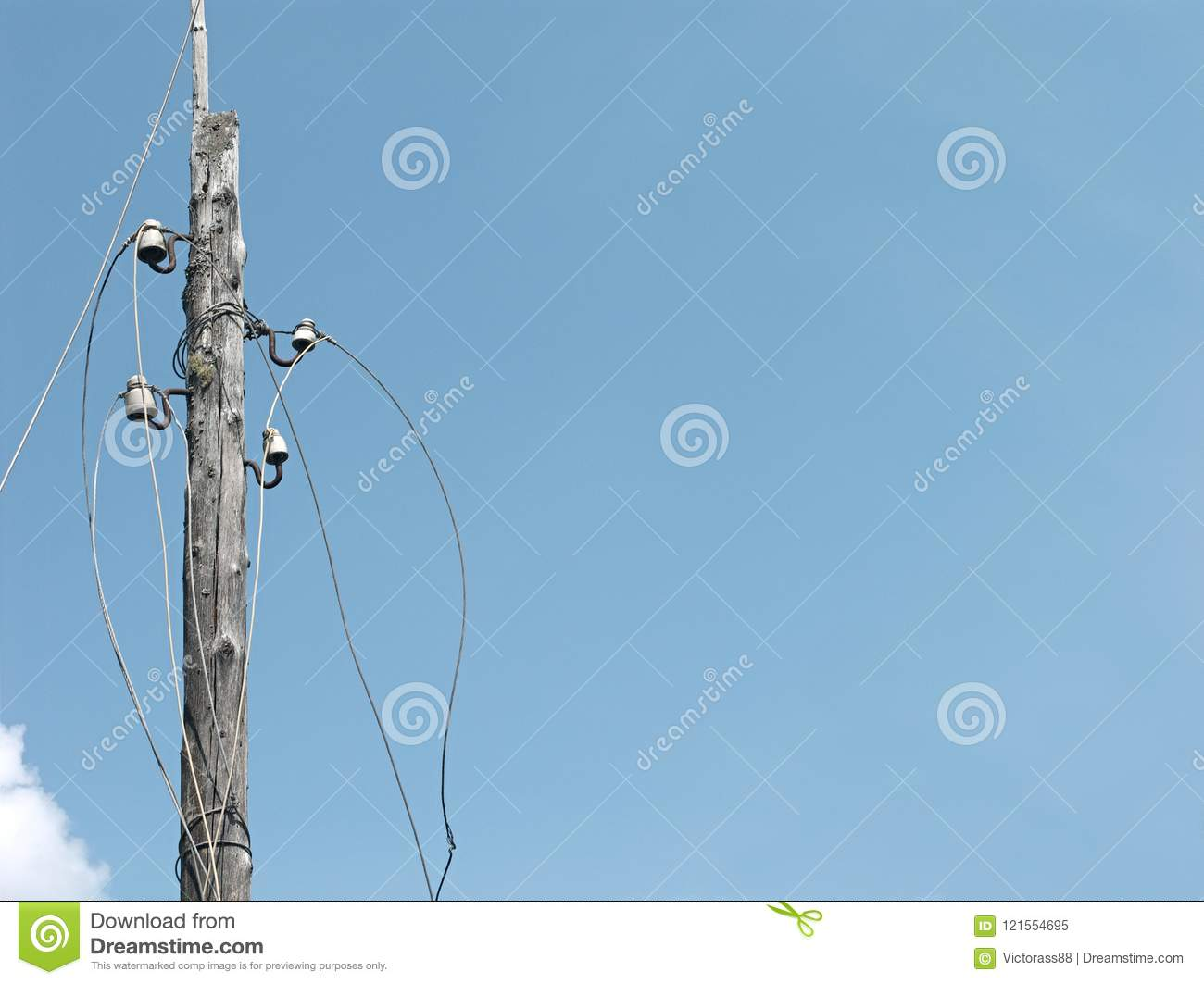 Electric Disconnected Wires Stock Image - Image of supply, power ...