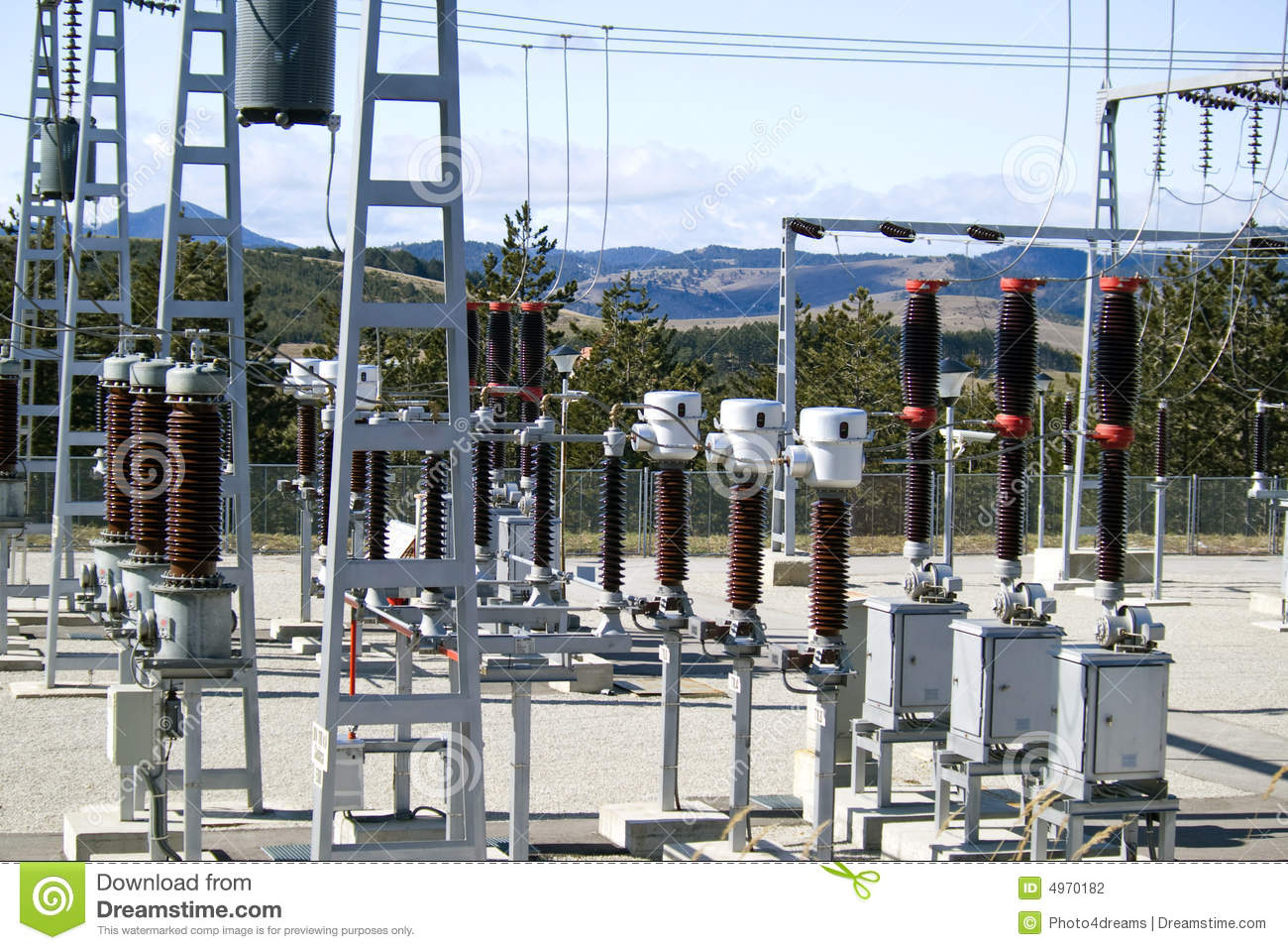Electric distribution substation stock photography image for Distribution substation