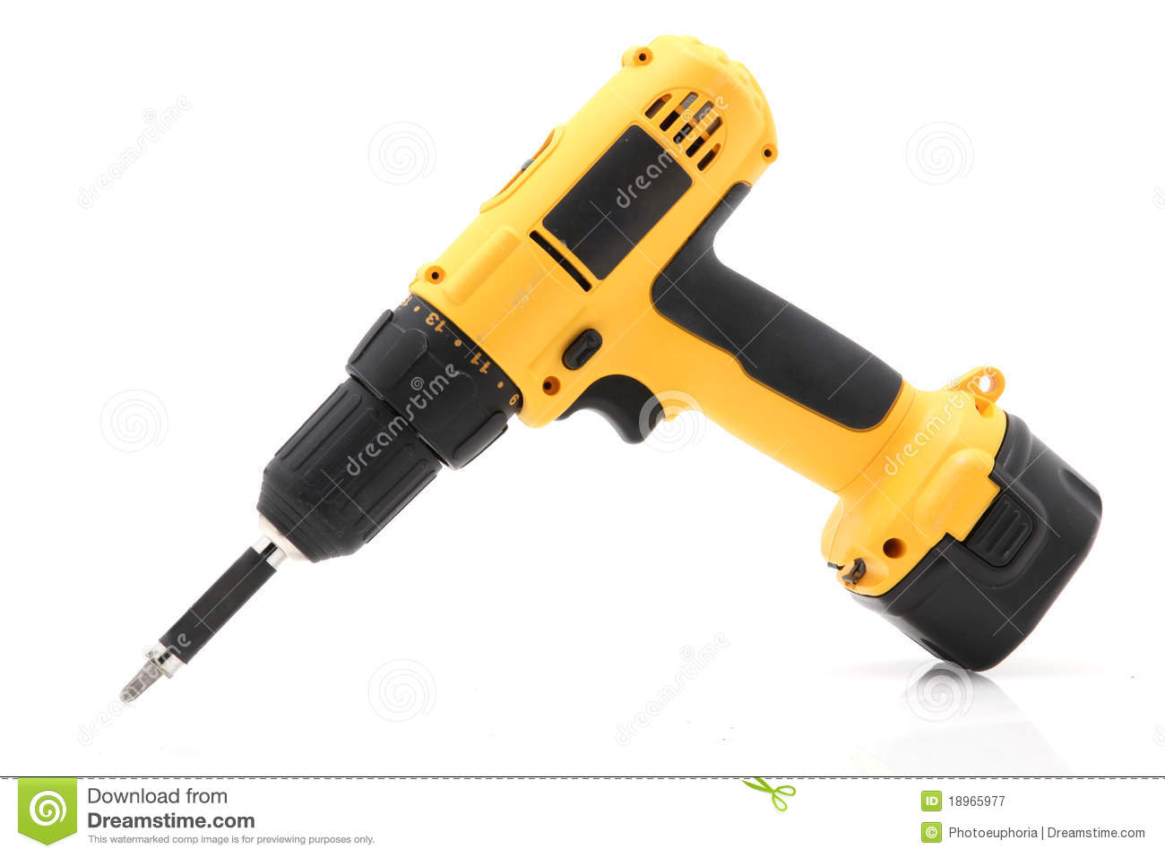 electric screwdriver stock photography