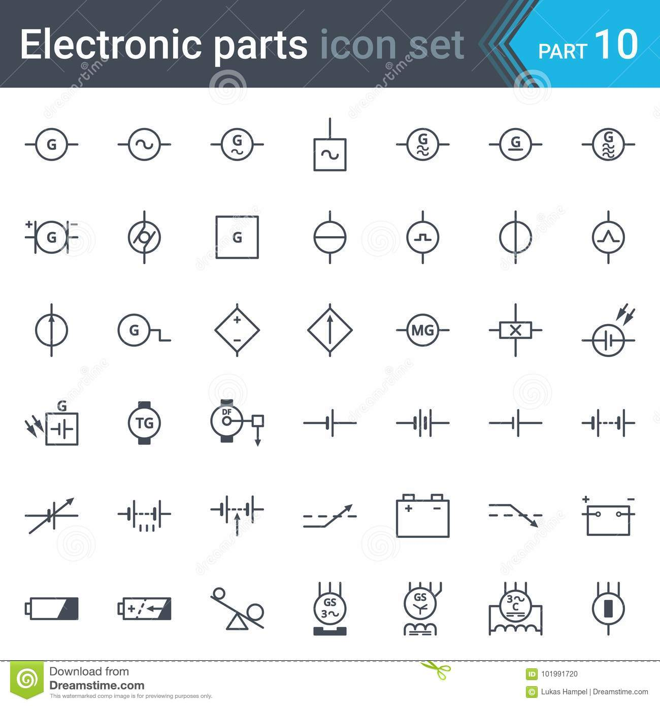 Generator Diagram Symbol Wiring Master Blogs Simpleelectricgeneratordiagram Pin Simple Electricity Electric And Electronic Circuit Symbols Set Of Rh Dreamstime Com Basic