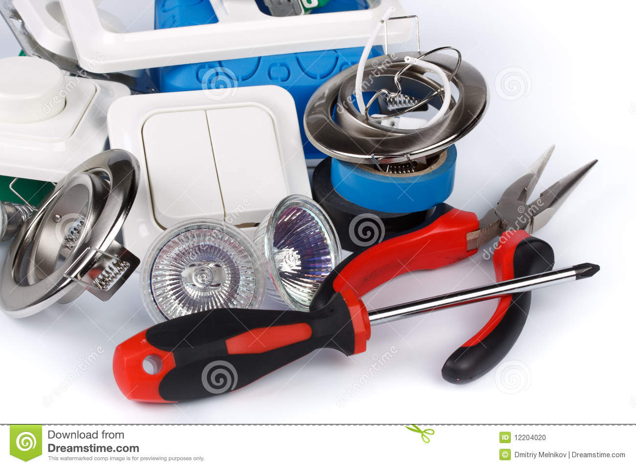 electric equipment stock photo