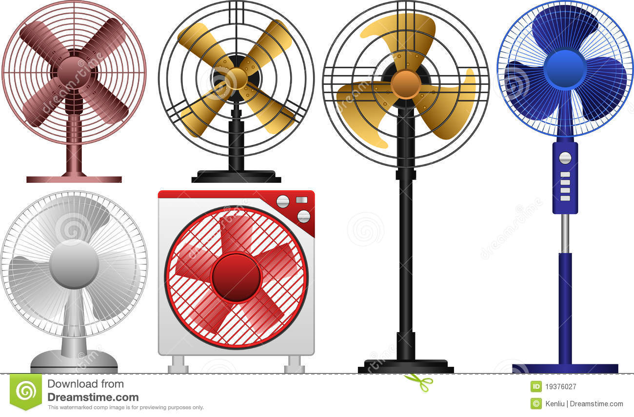 Electric Fan Stock Vector. Illustration Of Appliance