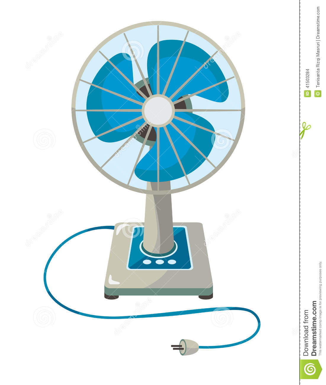 A Sketch Of A Electric Fan : Electric fan stock vector image