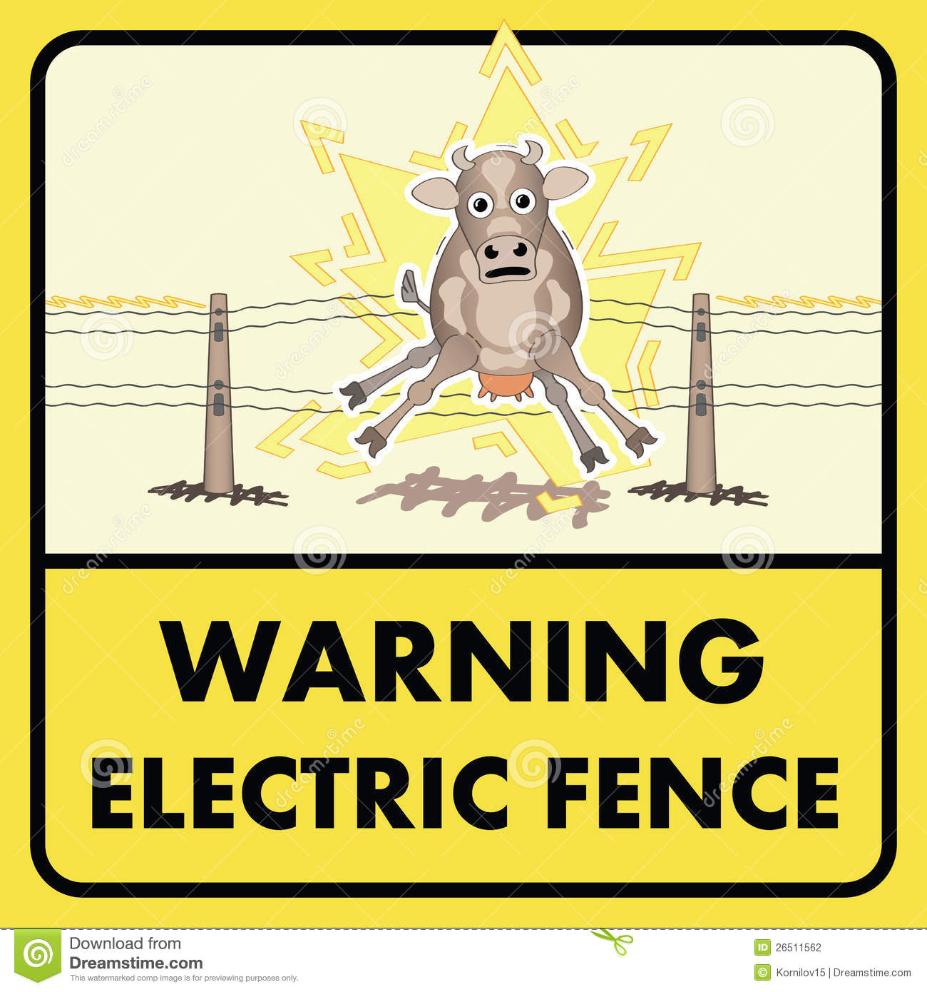 Wire Electric Fence Sign Not Lossing Wiring Diagram Signs Stock Photography Image 26511562 Posts Winder