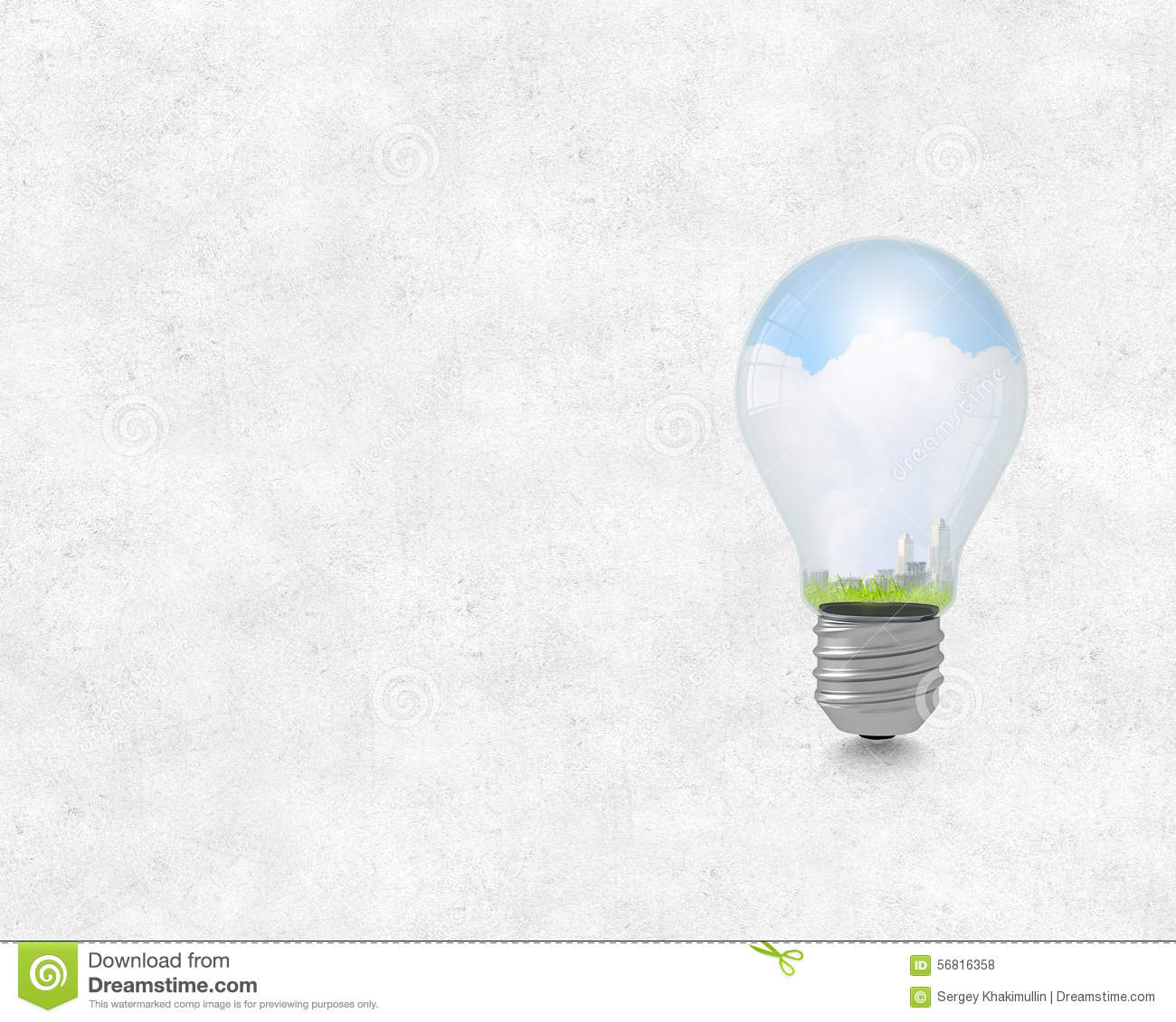Electric Green Energy Stock Illustration