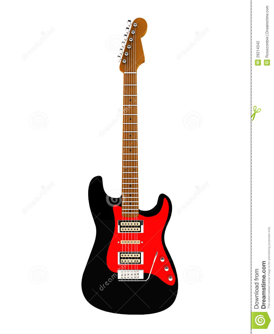 electric guitar 3d stock photography image 29214342. Black Bedroom Furniture Sets. Home Design Ideas