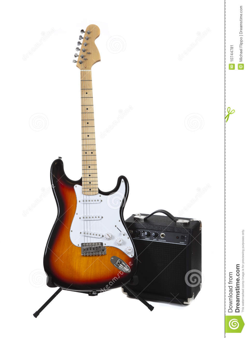 an electric guitar and amp stock image image of instrumental 10744781. Black Bedroom Furniture Sets. Home Design Ideas