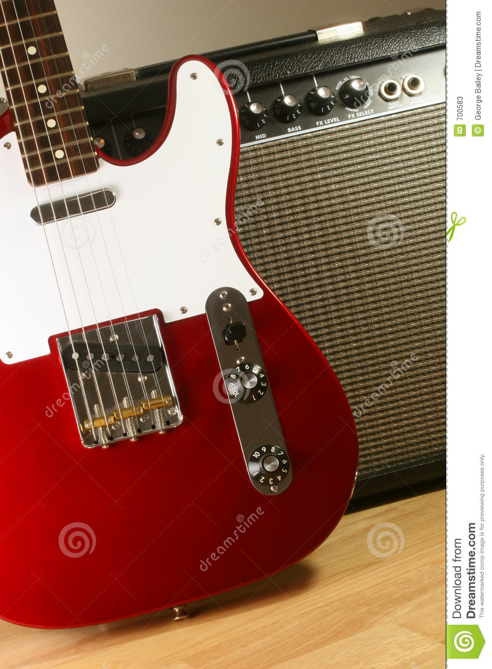 electric guitar and amp 2 stock photos image 700583. Black Bedroom Furniture Sets. Home Design Ideas