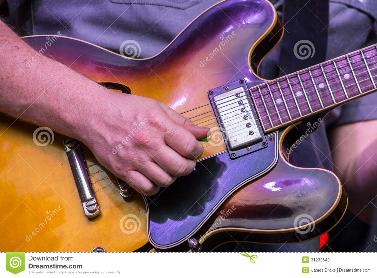 electric guitar strum stock photo image of notes pickup 31232540. Black Bedroom Furniture Sets. Home Design Ideas