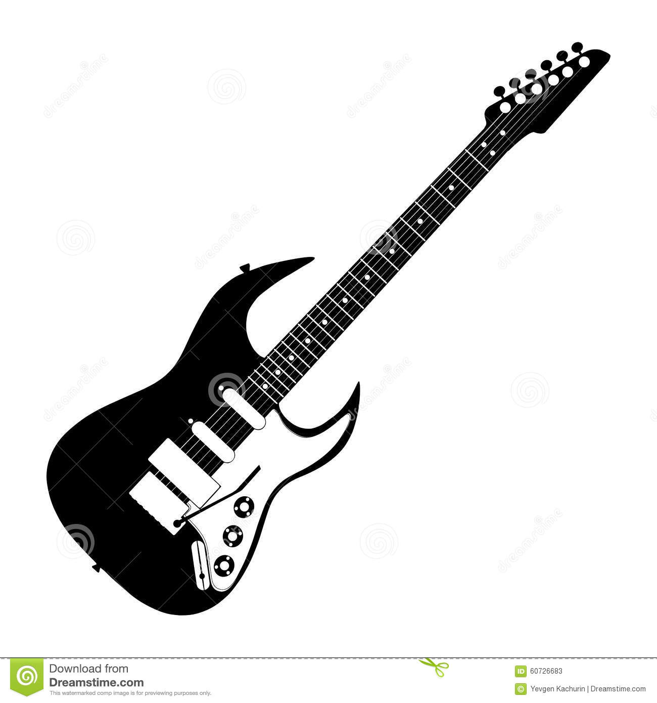 Contour Line Drawing Guitar : Electric guitar contour stock vector image