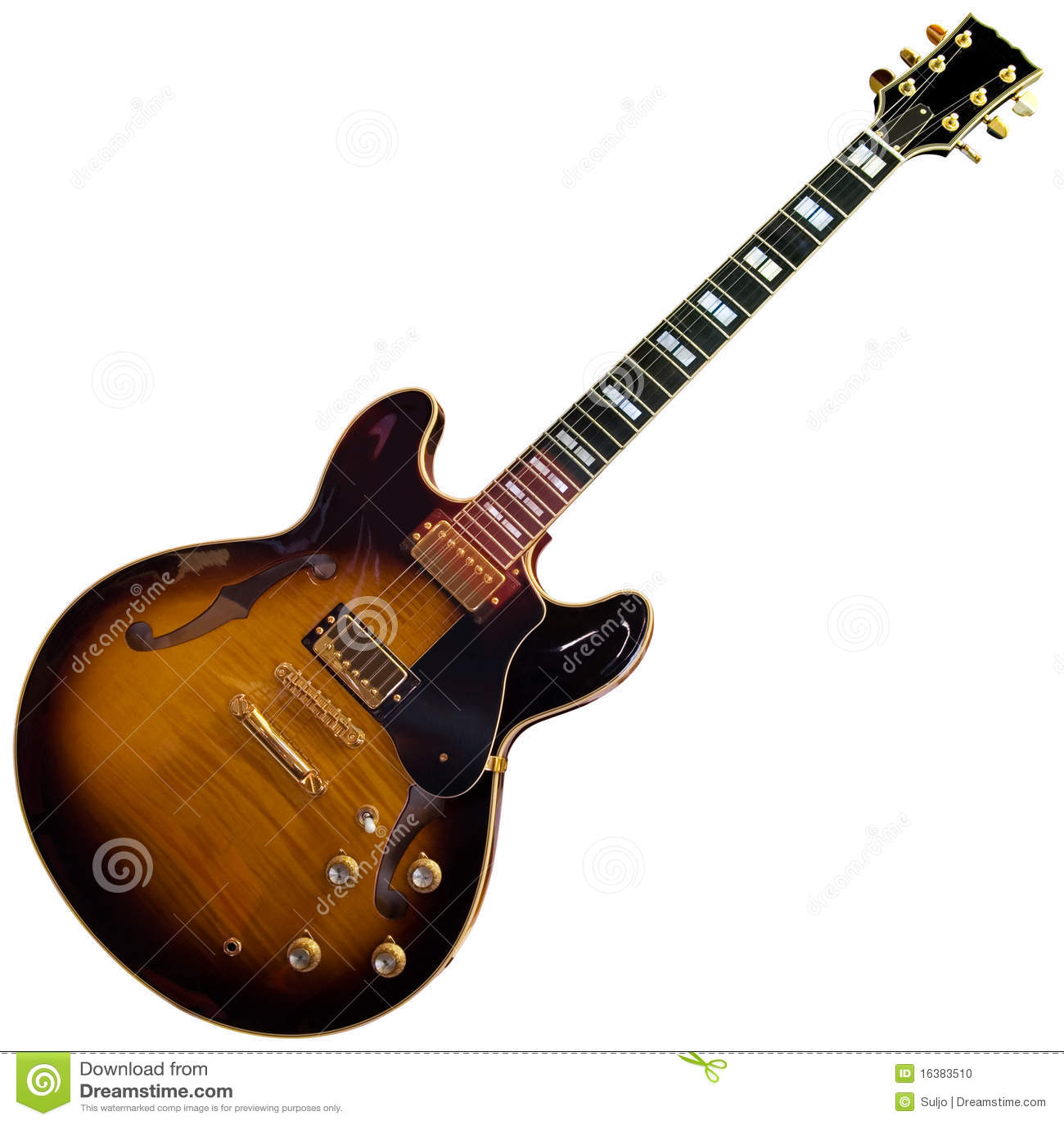 Electric guitar cutout