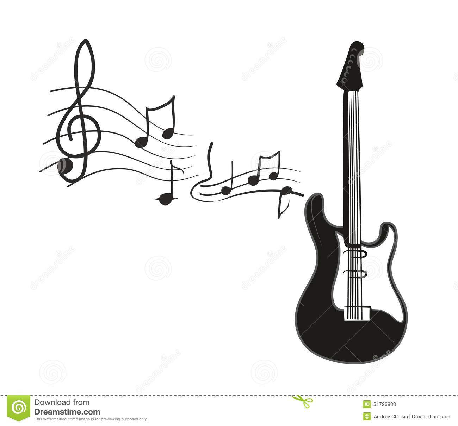 electric guitar stock vector illustration of sound clip art music notes symbols clip art music notes border