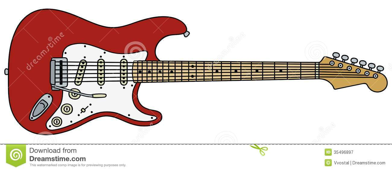 Electric Guitar Stock Vector Illustration Of Country 35496897