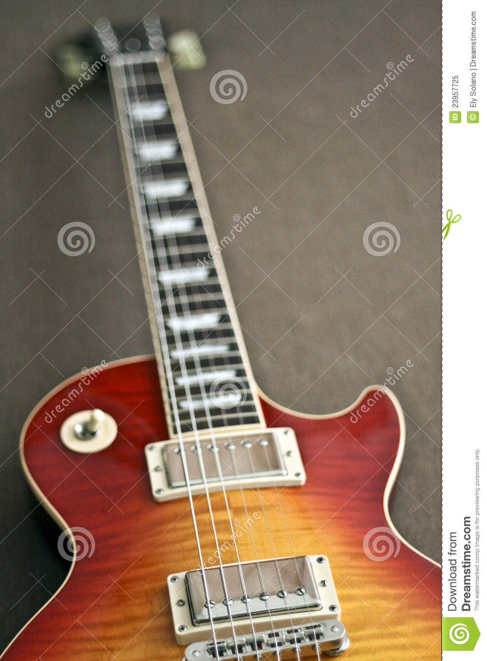 electric guitar in les paul style stock image image of musical reggae 23957725. Black Bedroom Furniture Sets. Home Design Ideas