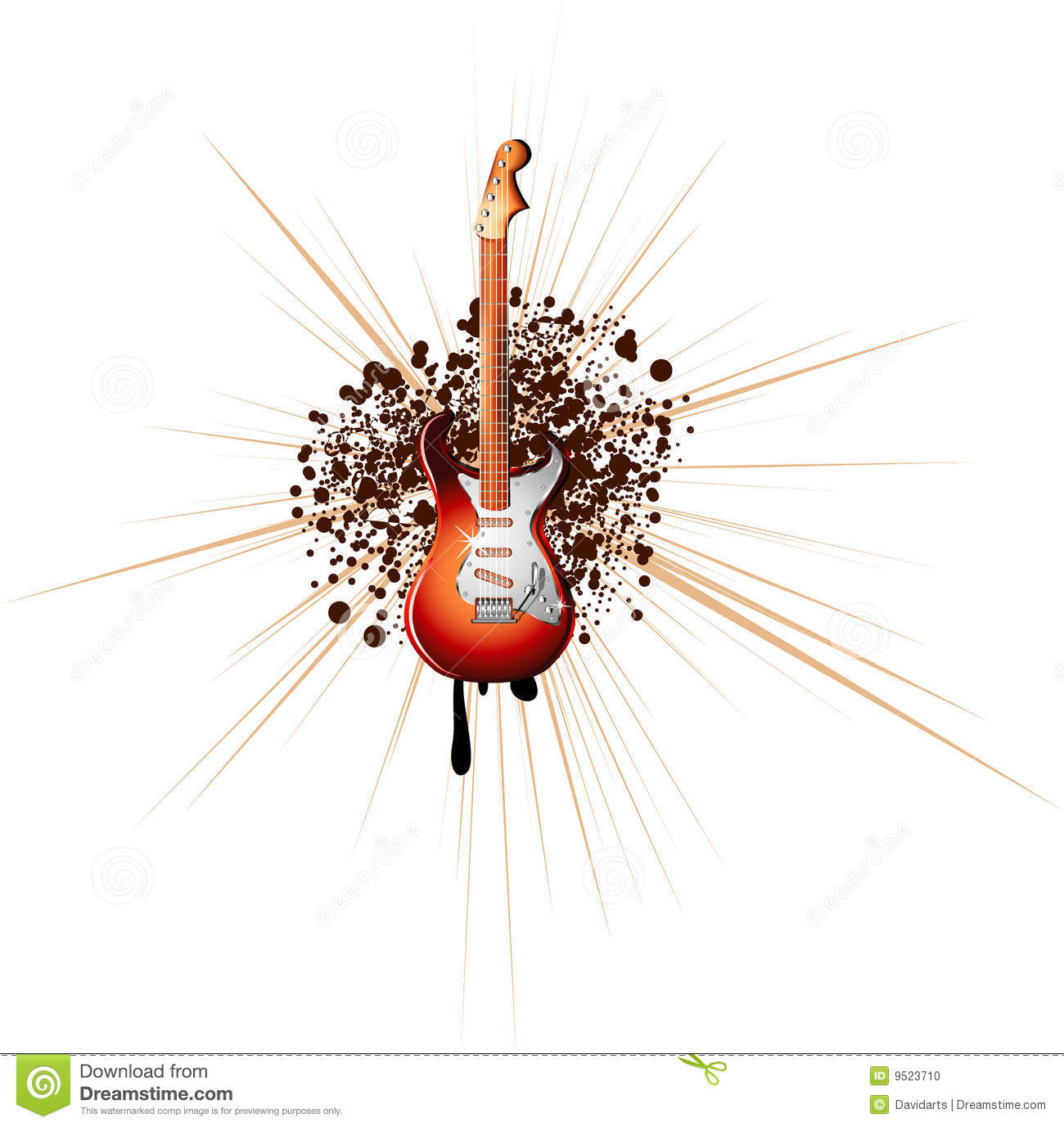 electric guitar music background stock photo image 9523710