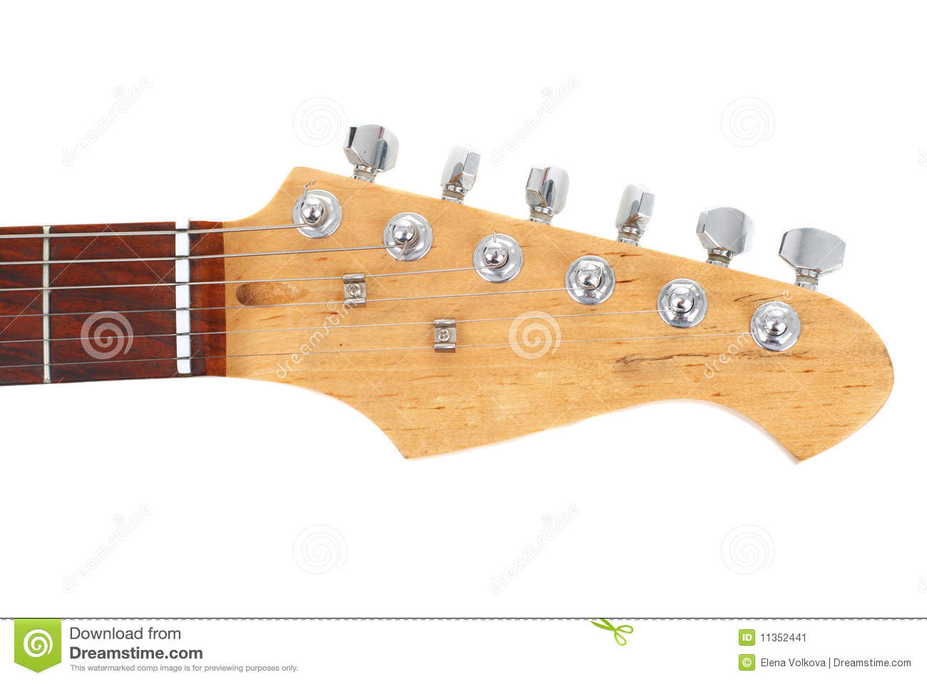 Download Electric guitar neck stock image. Image of object, metal - 11352441