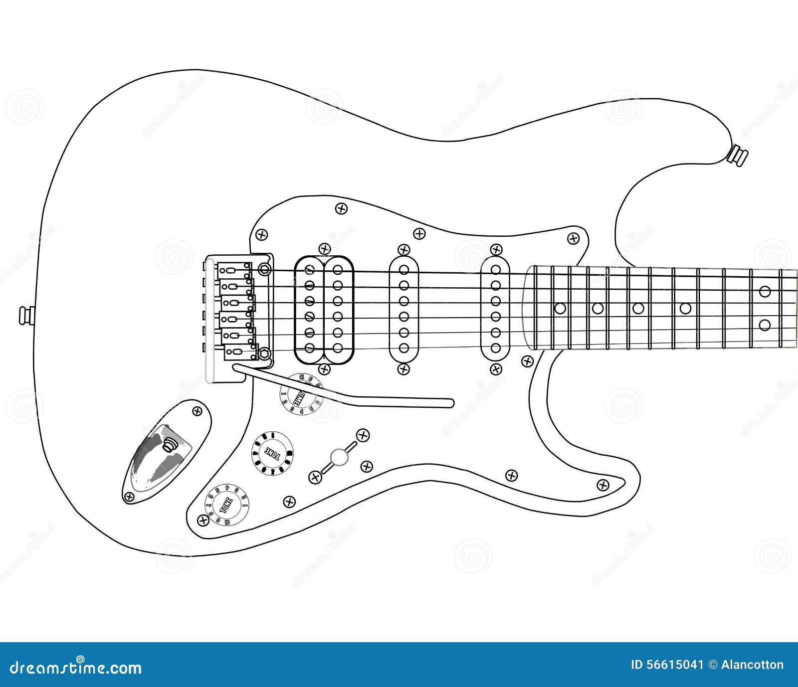fender guitar outline - photo #28