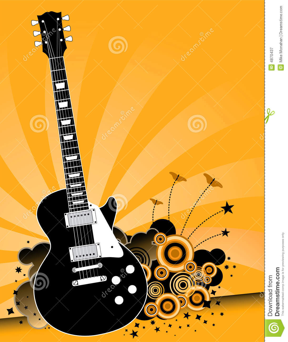 Electric Guitar Rock Music Royalty Free Stock Photography - Image ...