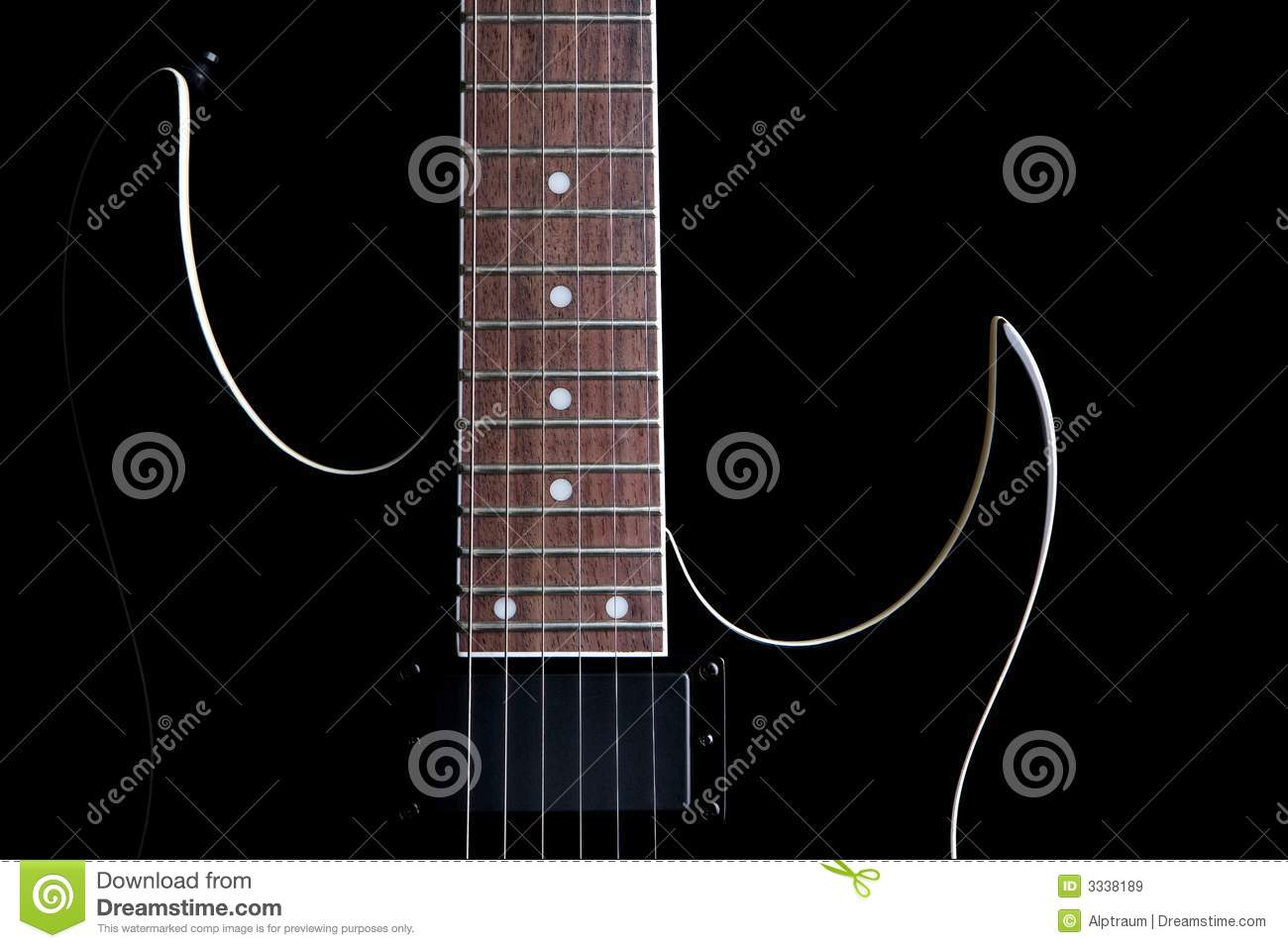 Electric guitar silhouette iso