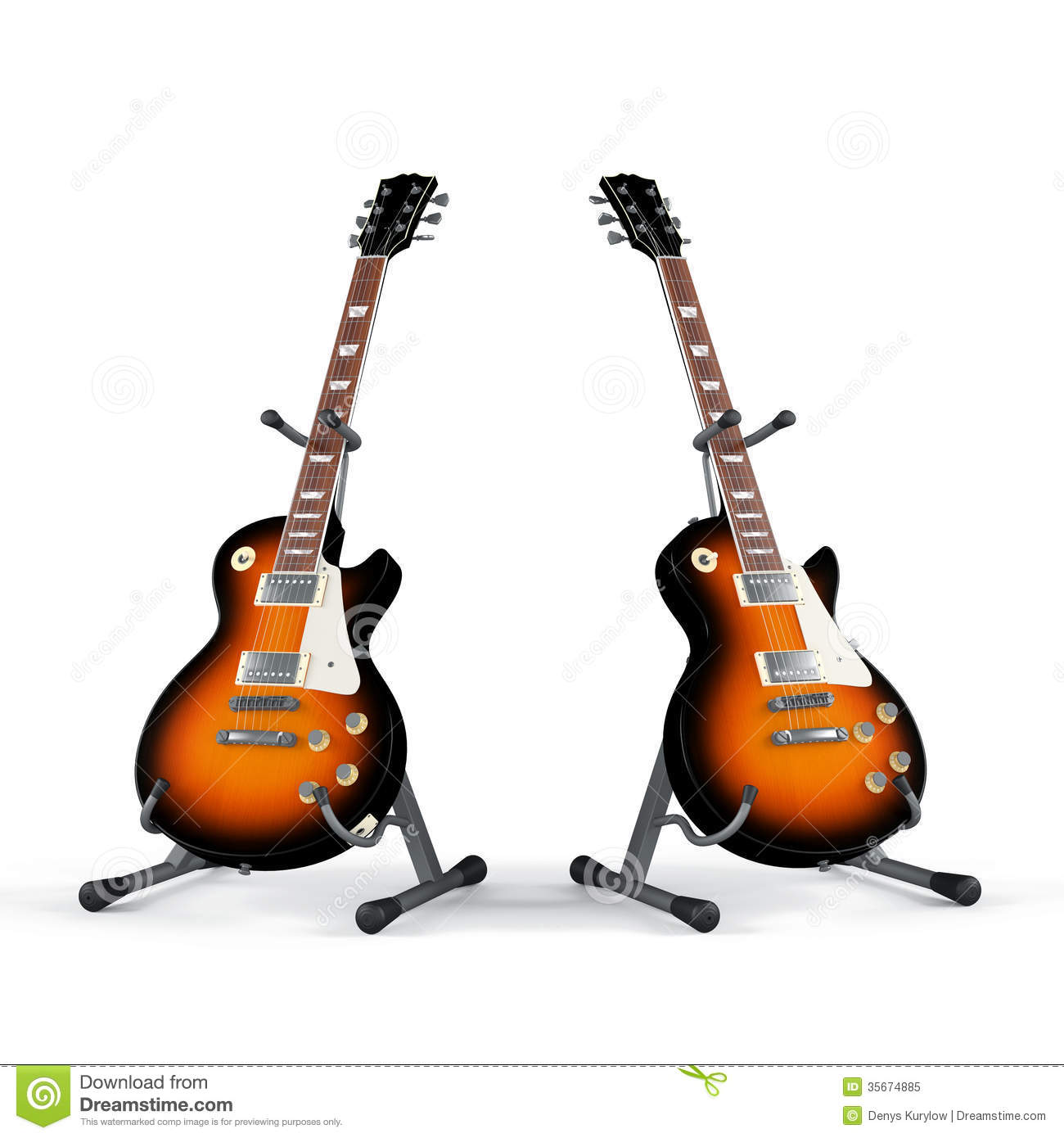electric guitar on the stand isolated royalty free stock photo image 35674885. Black Bedroom Furniture Sets. Home Design Ideas