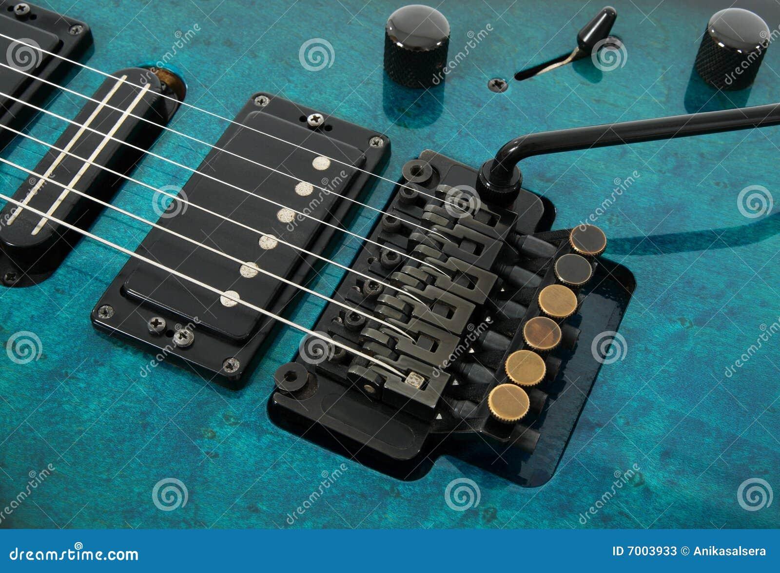 electric guitar tremolo system stock image image 7003933. Black Bedroom Furniture Sets. Home Design Ideas
