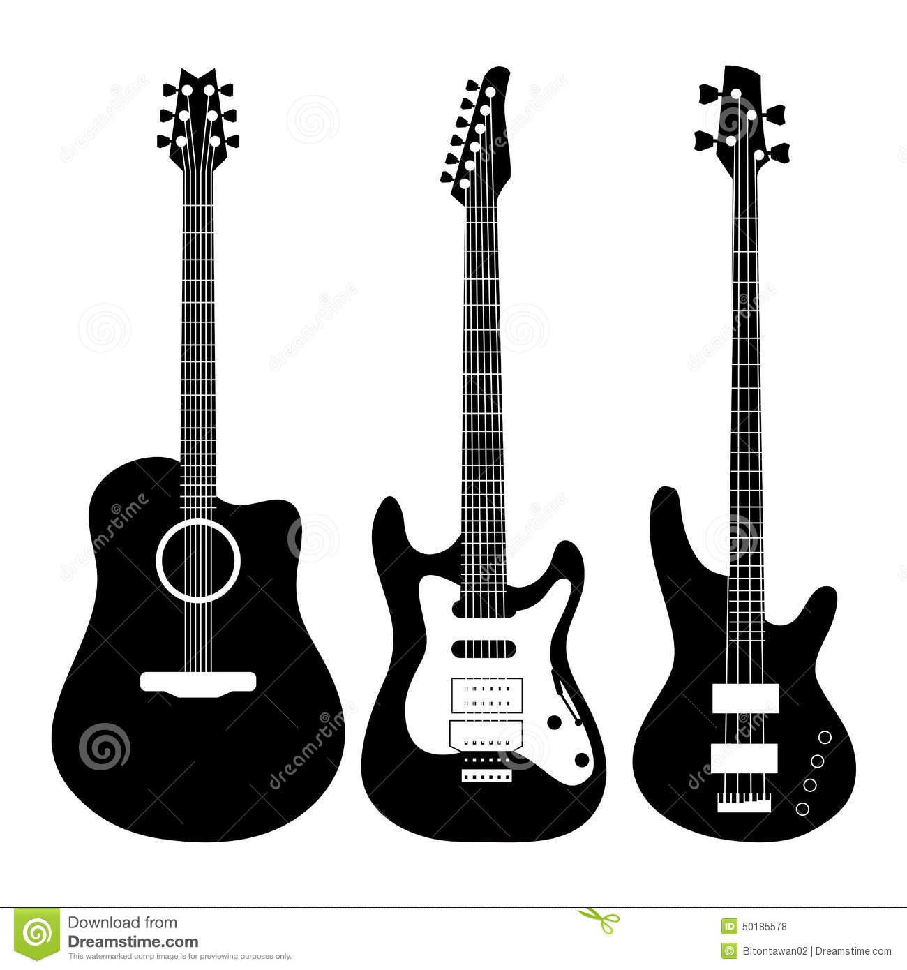 Electric Guitar Vector Stock Vector - Image: 50185578