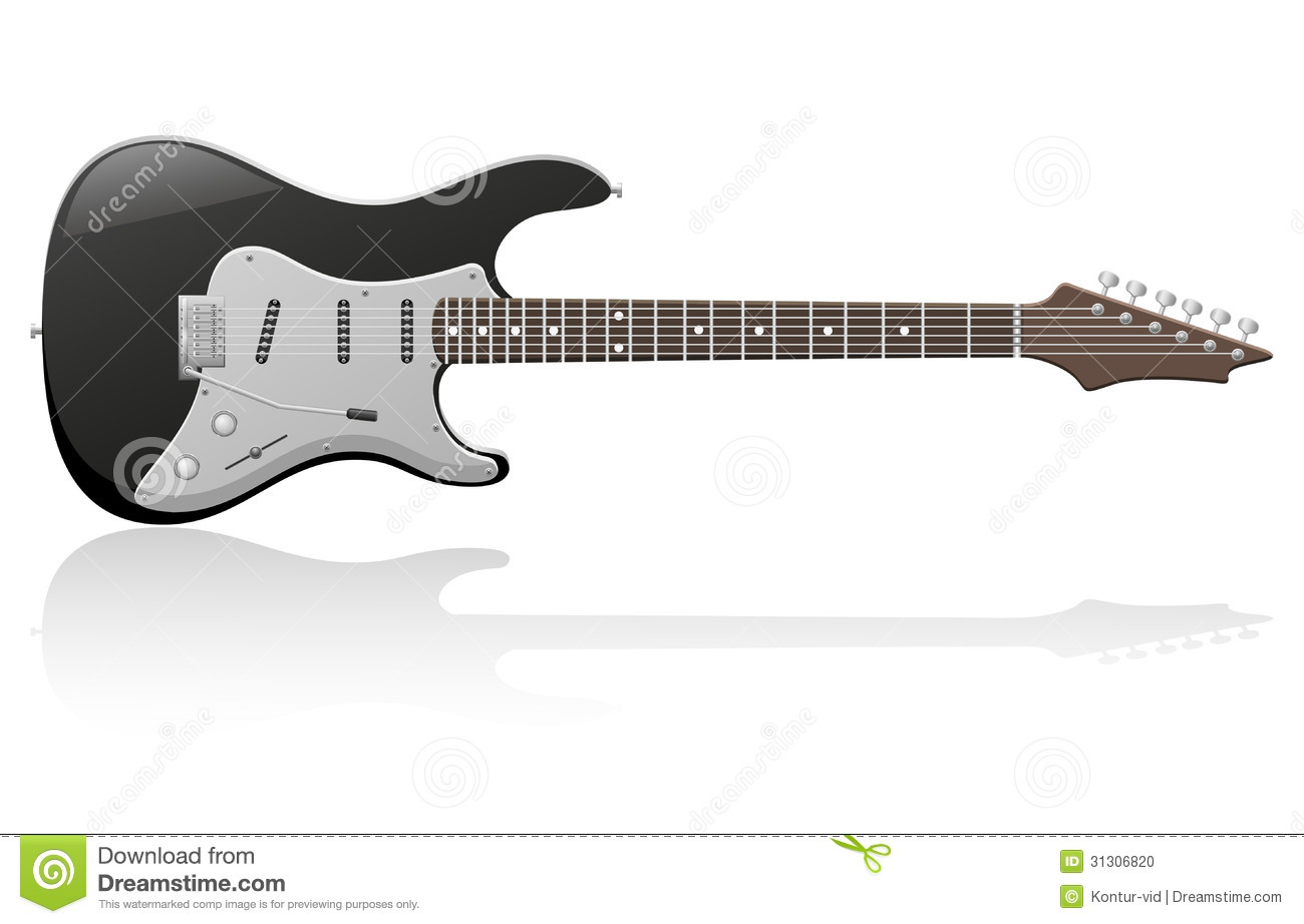 Electric Guitar Vector Illustration Stock Vector - Image ...