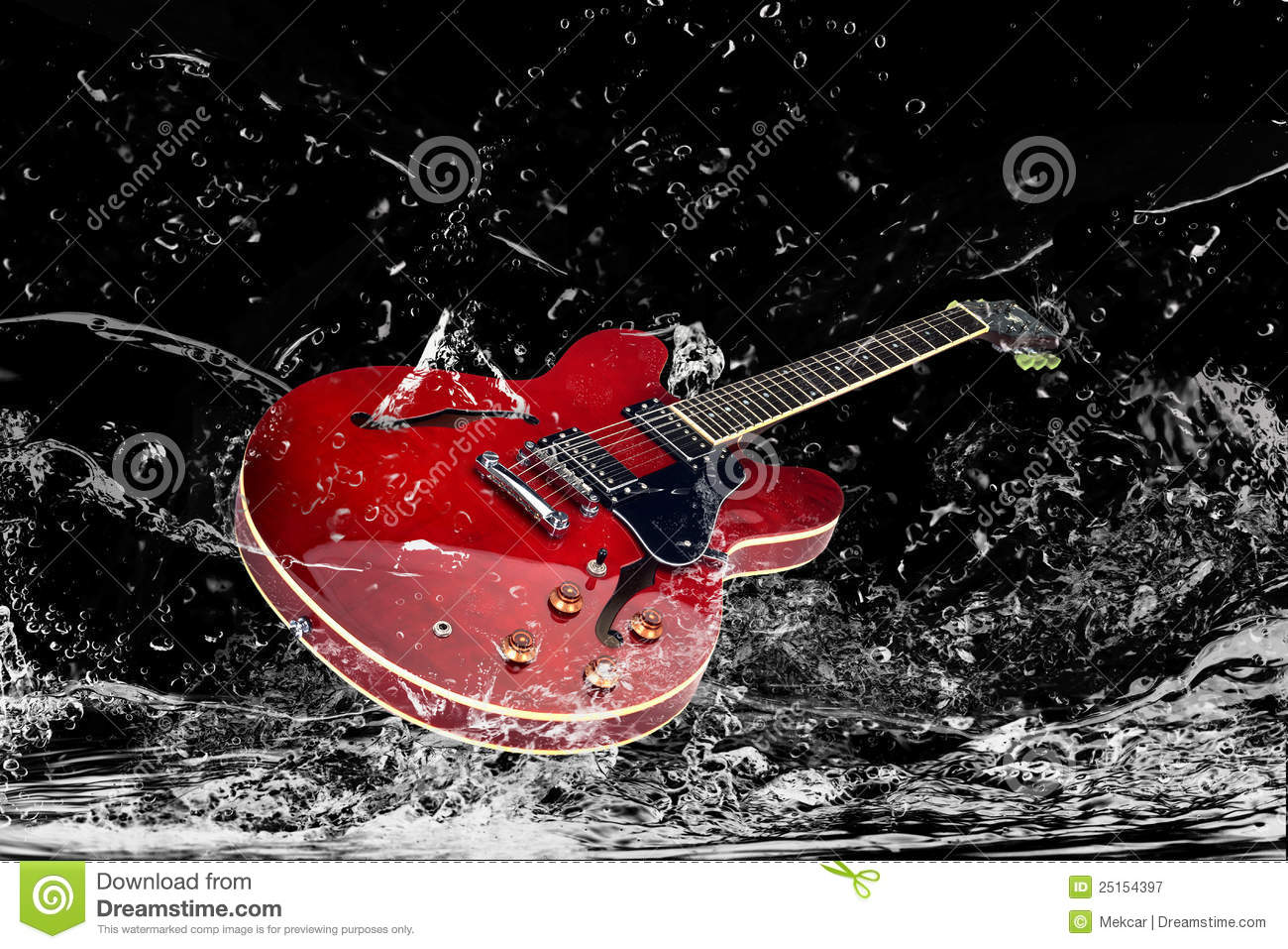 Electric Guitar In Water Royalty Free Stock Photography ... | 1300 x 957 jpeg 235kB