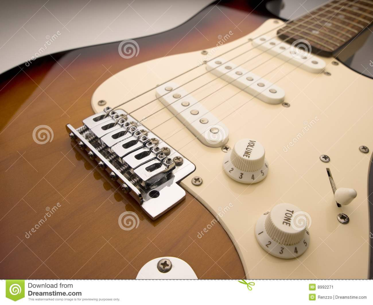 Electric Guitar Wide Angle Close Up Stock Image Image Of Bridge