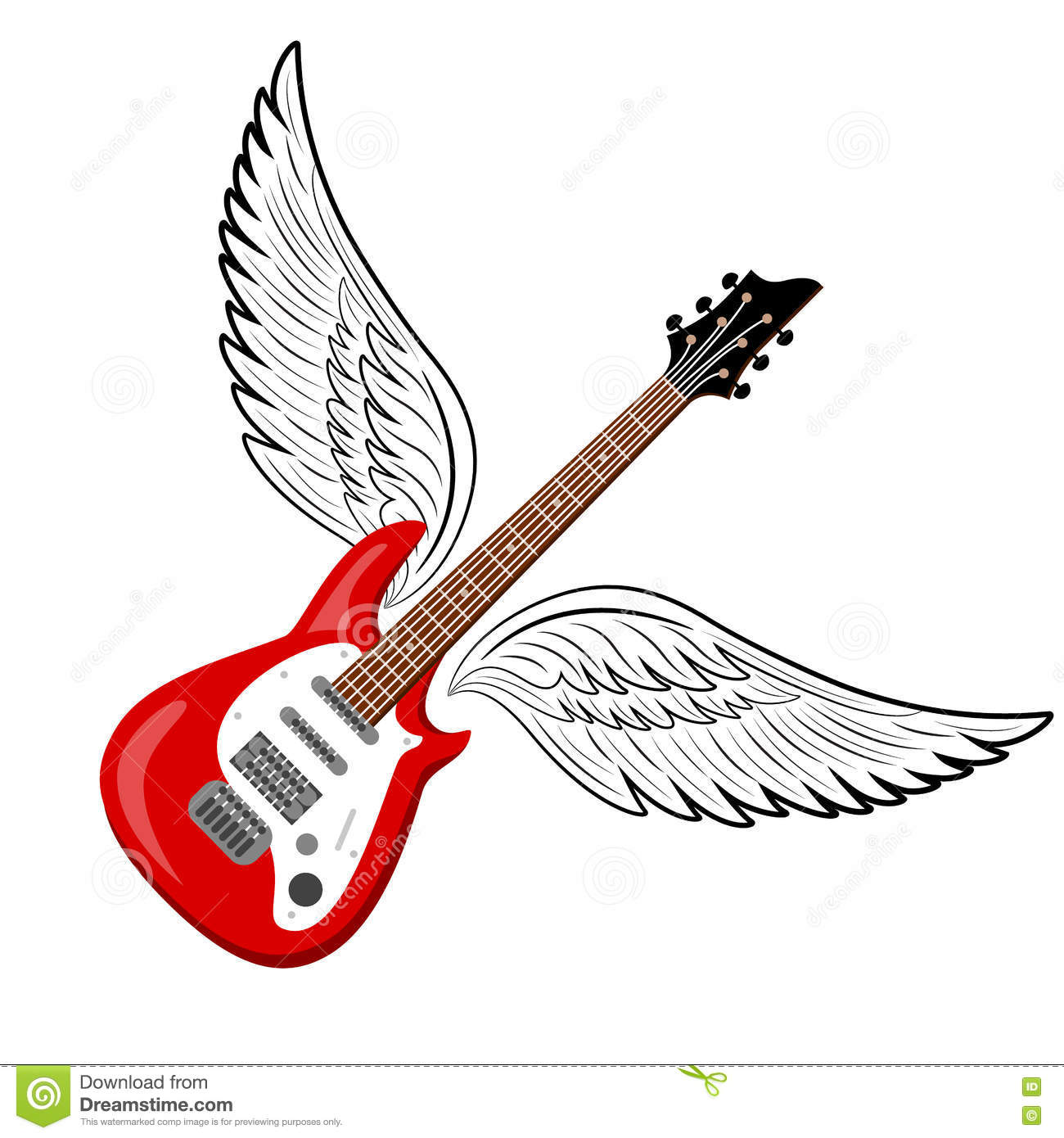 rock music symbol electric guitar with wings musical Classic Rock Band Logos Old Rock Band Logos