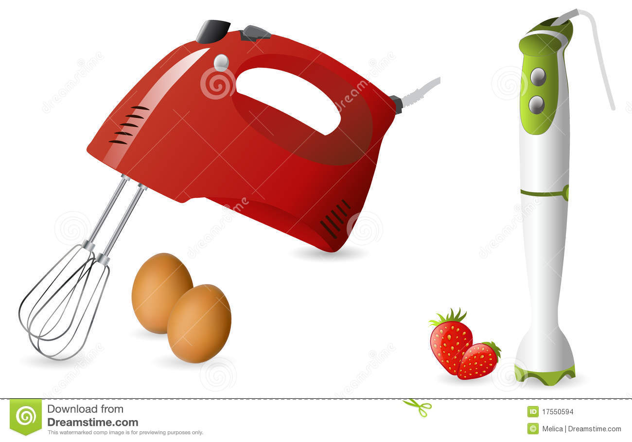 Hand Mixer Clip Art ~ Electric hand mixer and blender stock images image
