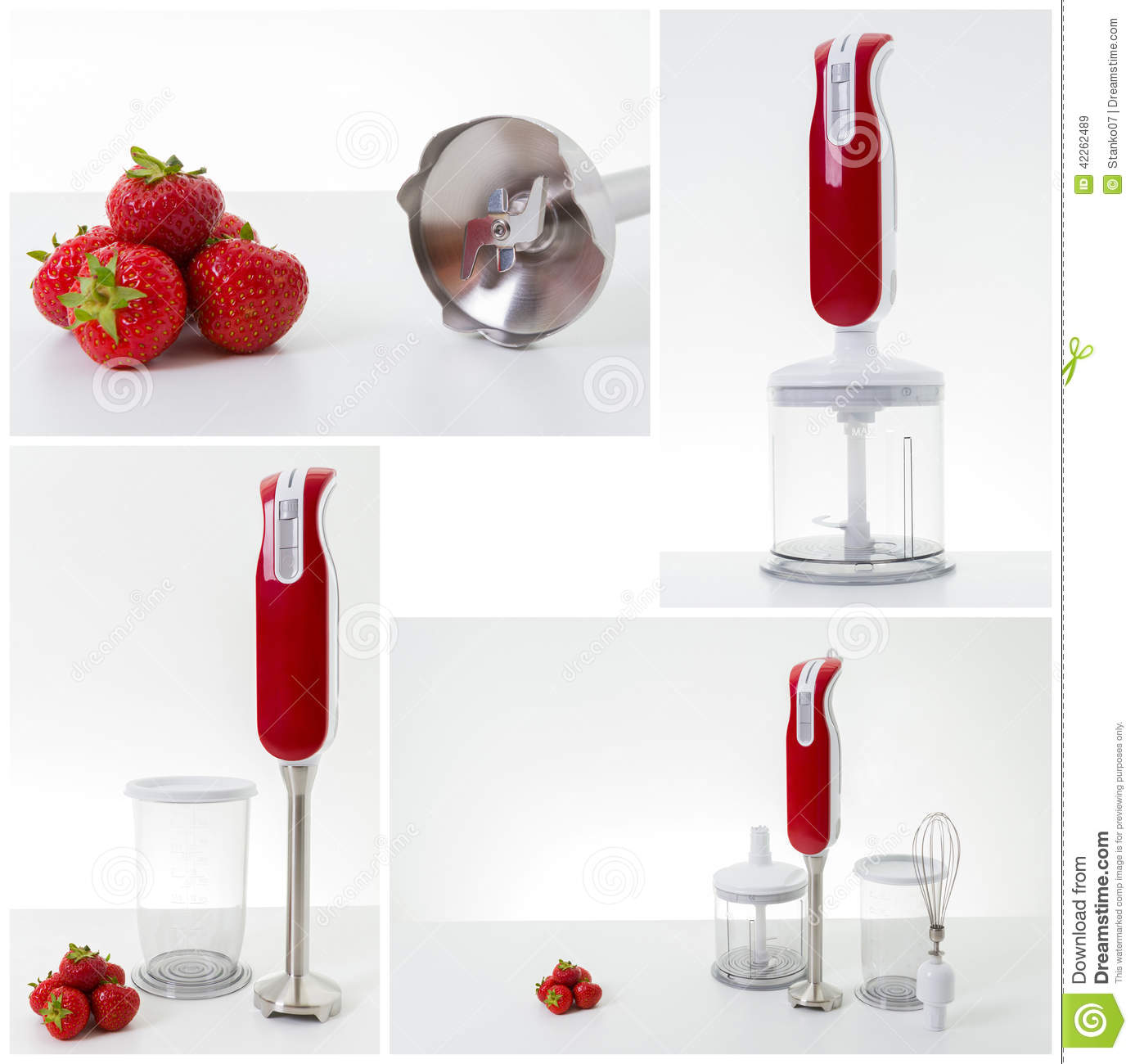 Electric hand mixer collage