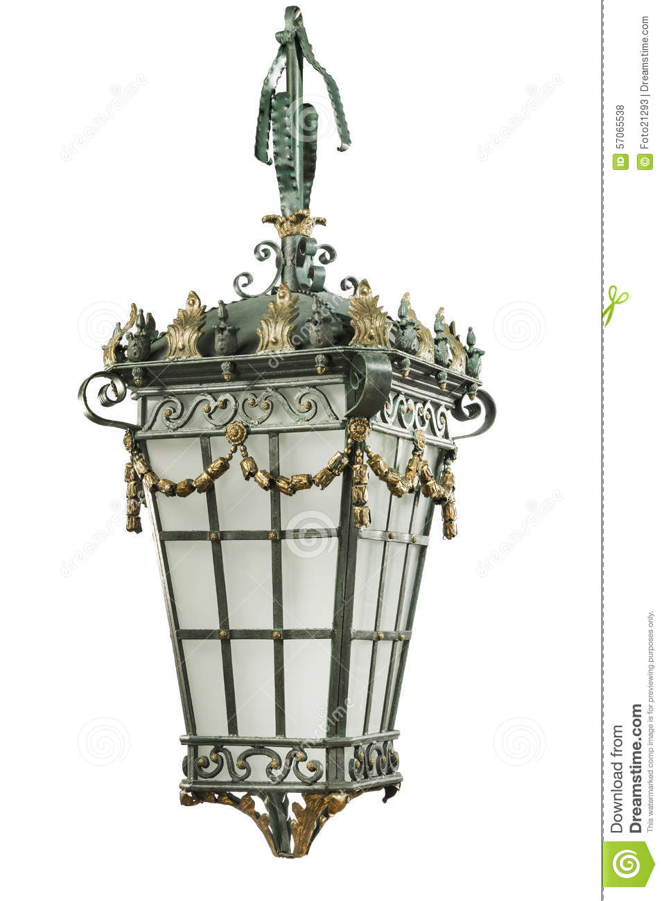 Electric Hanging Antique Lantern Outdoors Street Lamp Stock Photo Image Of Outdoor Retro 57065538