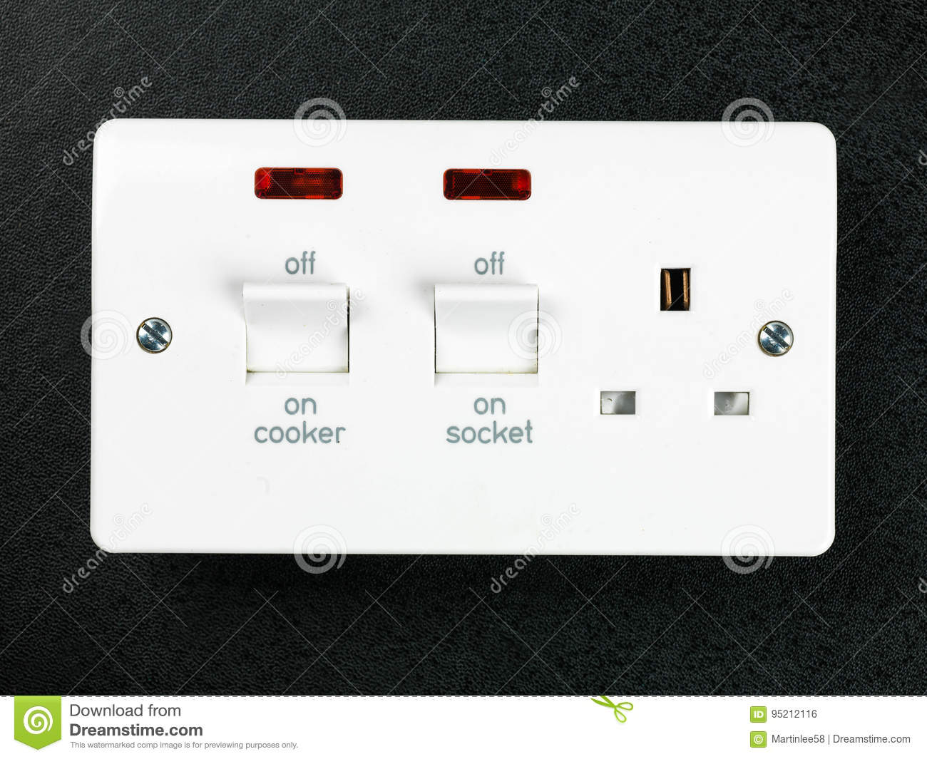 Electric Hard Wired Cooker Socket