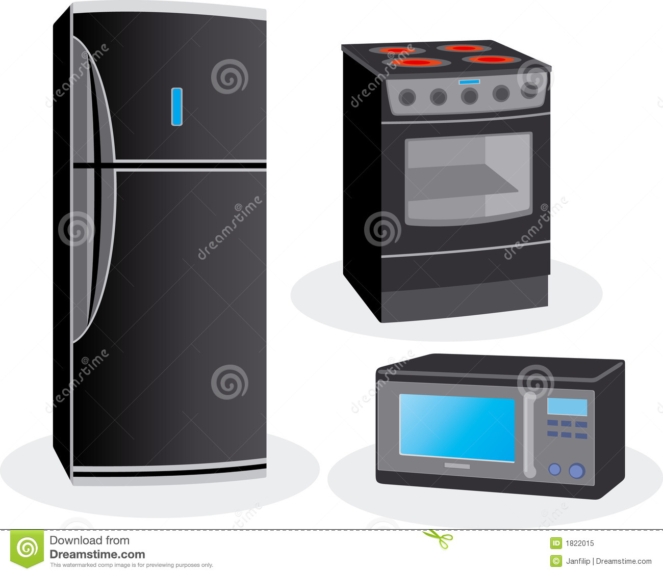 Electric Home Devices Stock Vector Illustration Of