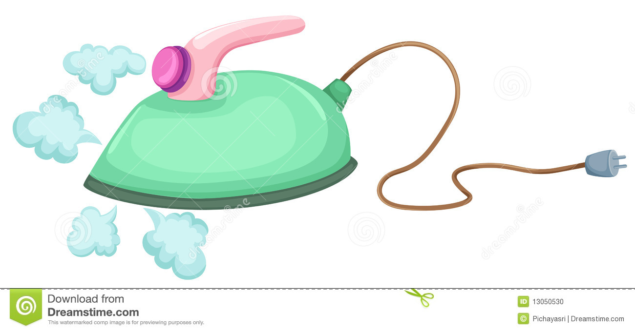 Steam Iron Clip Art ~ Electric iron stock photo image
