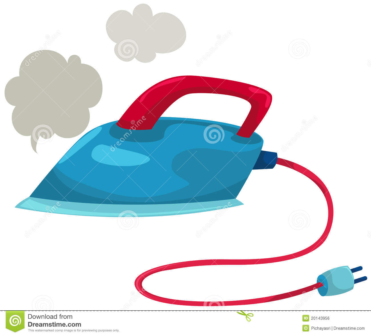 Cartoon Clothes Iron ~ Electric iron royalty free stock image
