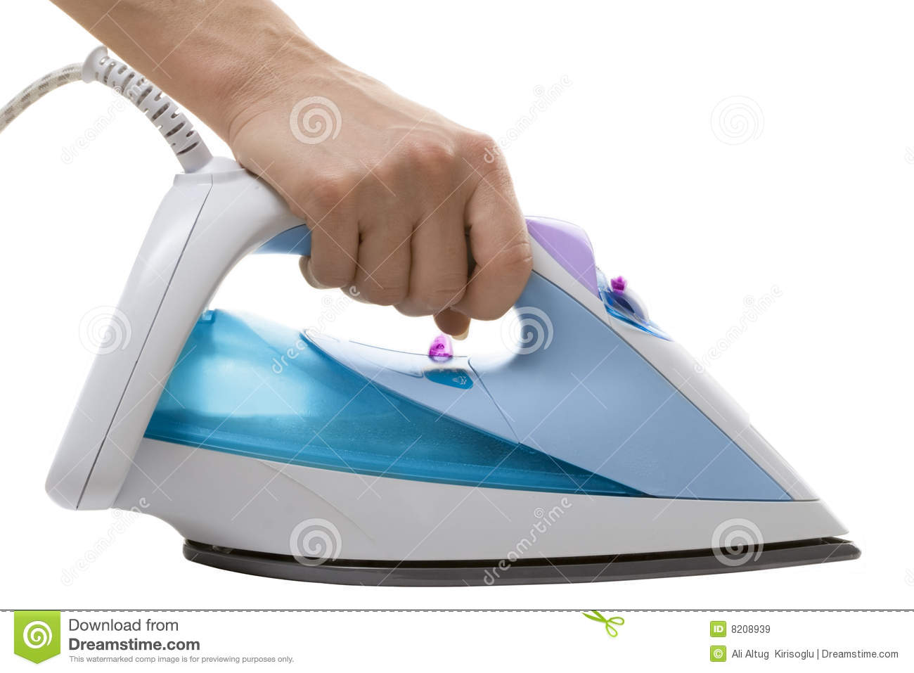 Usage Of Electric Irons ~ Electric iron in use closeup royalty free stock images