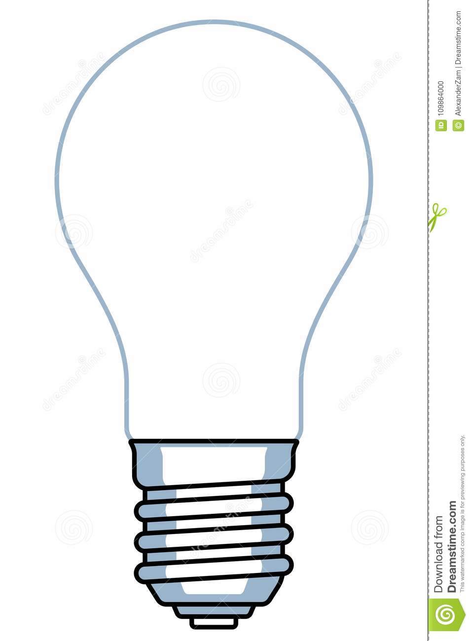 It's just a picture of Peaceful Light Bulb Template Printable