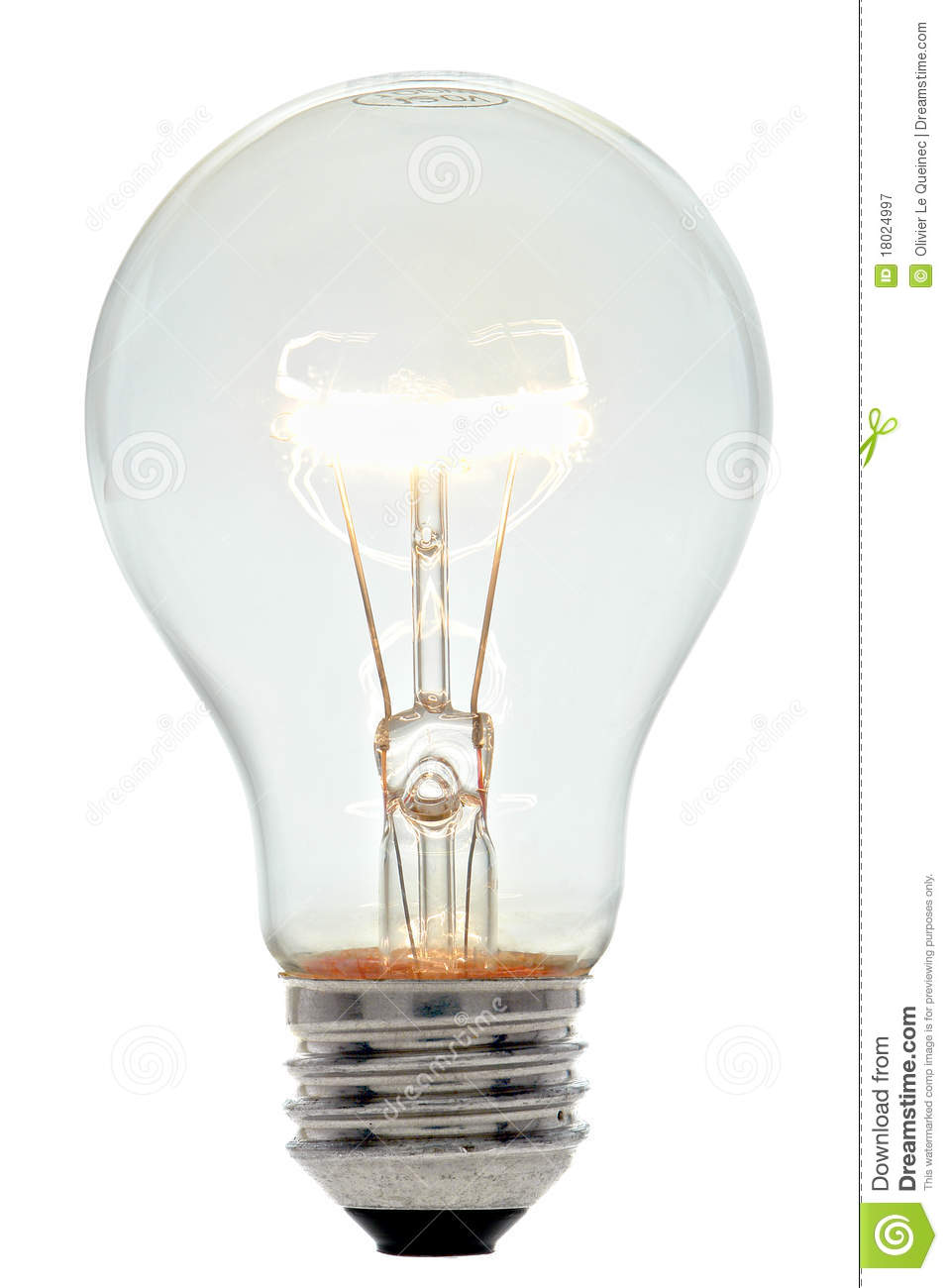 Electric Light Bulb Incandescent Filament Glowing Royalty Free Stock Photography Image 18024997