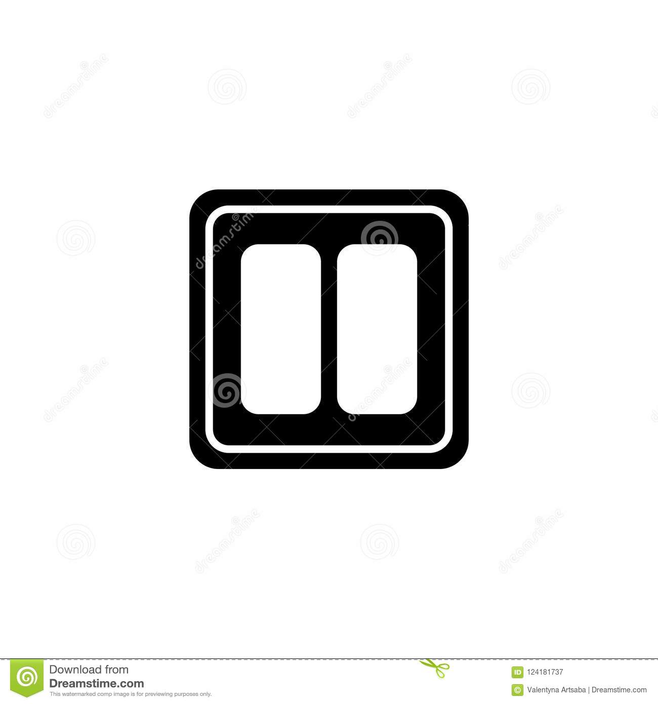 Light Switch Symbol Cliparet Electric Flat Vector Icon Stock Illustration 1300x1390